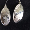 Oval Silver Earrings Raven